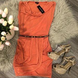 NWT  Sparkly Stretchy Peachy Mini Dress 🍑